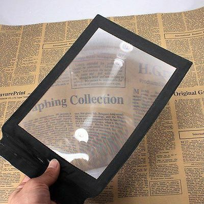 A4 Full Page Magnifier Sheet Magnifying Glass Reading Aid Lens 3X Big