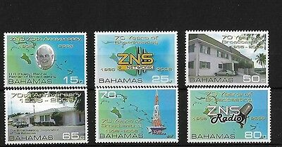 Bahamas Sg1419/24, 2006 75 Years Of Broadcasting Mnh