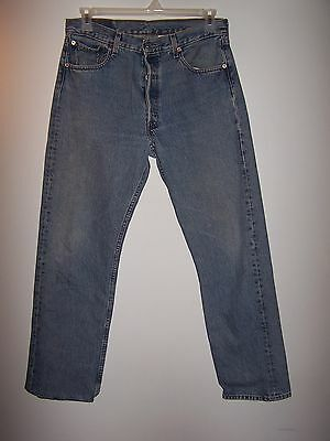 Levi's 501 Button Fly Jeans 34x32, Item #64