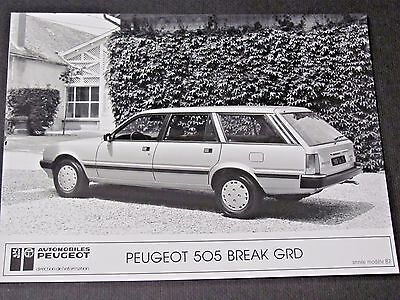 1987 Peugeot 505 Break Original Press Photo....