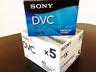 sony dvc 60 min tapes BRAND NEW IN SEALED BOX.