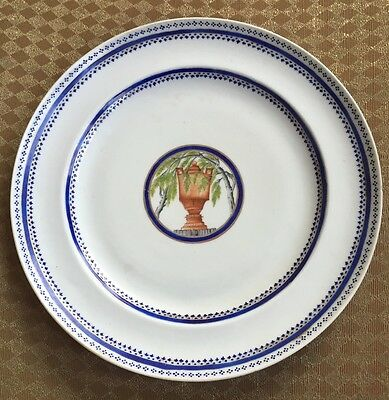 Very Rare Chinese Export L' Urne Mysterieuse Plate French Revolution Royalist
