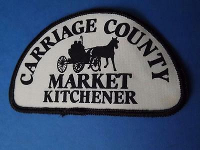 Carriage County Market Kitchener Patch Vintage Farmer Horse & Buggy Collector