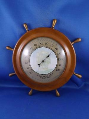 Thermometer The Valley Camp Coal Company Of Canada Advertising Mining Ship Wheel