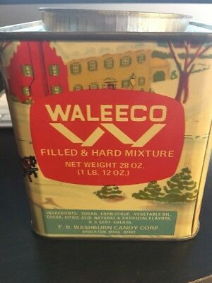 Waleeco Vintage Filled & Hard Mixture Winter Scene Candy Tin