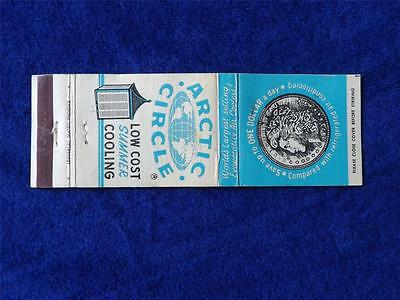 Arctic Circle Evaporatve Air Coolers Advertising $1.00 A Day Vintage Matchbook