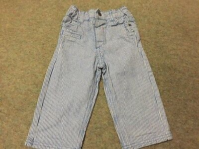 boys blue and white stripped jeans age 12-18months