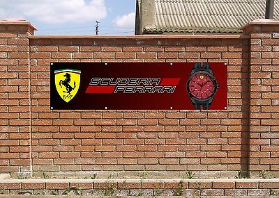 FERRARI WATCH LOGO PVC BANNER TILT - Garage - Zimmer - Room