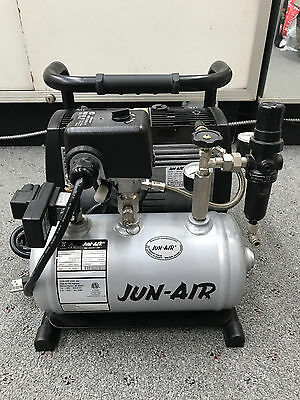 Jun Air Of302-4B Air Compressor System Excellent Condition Free Shipping