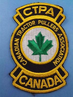 Canada Tractor Pullers Association Patch Vintage Collector Ctpa Pulling