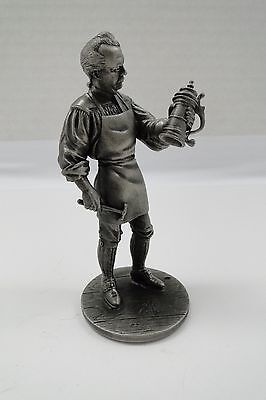Vintage 1974 Franklin Mint Pewter Sculpture Figurine THE SILVERSMITH JEWELER