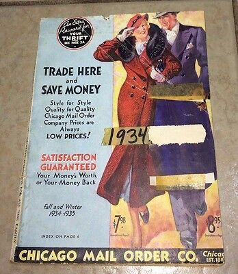 Chicago Mail Order Co. Catalog, Fall/Winter 1934-'35, Loads of Fashion Illust.