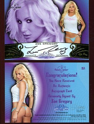 BENCHWARMER bench warmer ZOE GREGORY autograph HAND SIGNED card SB429