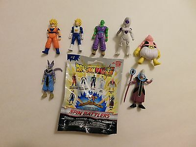Dragon Ball Super Series 1 Spin Battlers Lot of 7 Complete Set