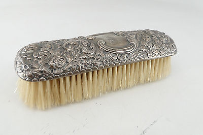 ANTIQUE Repousse Clothes Brush Sterling Silver