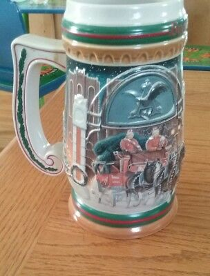 "1997 Budweiser Holiday ""Home fot the Holidays "" Mug"