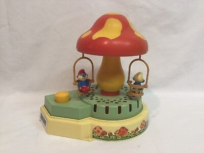 Collectible Smurf Carousel Music Box