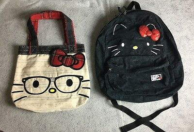 HELLO KITTY Lot Bundle Tote Bag and Vans Backpack
