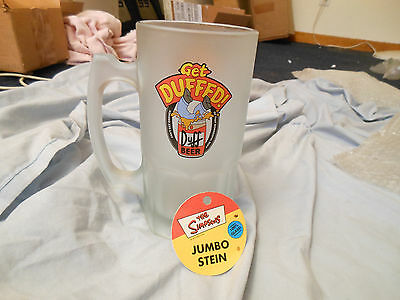 Mug JUMBO 32 oz Simpsons GET DUFFED frosted Beer Stein with Tag