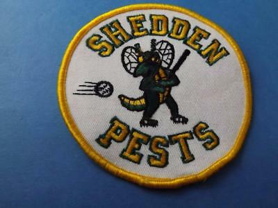 Shedden Pests Baseball Patch Vintage Ontario Team Logo Bug Collector