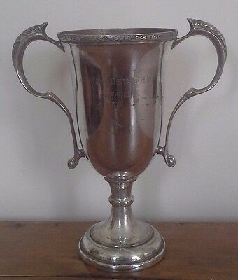 Vintage large silver plate trophy, silver, antique, trophies, sporting trophy