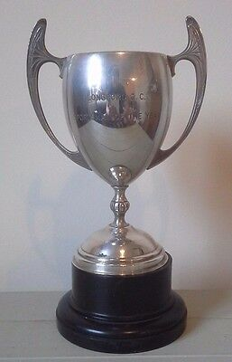 Vintage large silver plate trophy, silver, trophy, trophies, sporting trophy