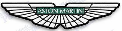 ASTON MARTIN   AUTO CAR IRON ON EMBROIDERed PATCH   4.5 X 1.5  INCHES JAMES BOND