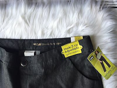 Lee Women's Trouser Stretch Jeans Size 18W NWT Adjustable Waist
