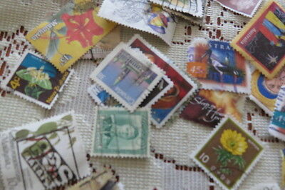 150 Vintage Postage Stamps English, Mixed World, Asian