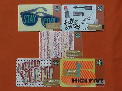 Starbucks (5) Greetings among Friends Gift Card Lot NO $ Value Collectible Only