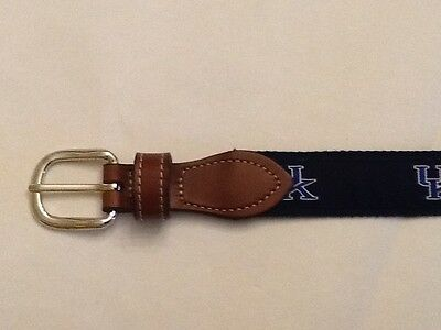 Boys Uk, University Of Kentucky Canvas Belt, Brass Buckle, Waist Sz 26