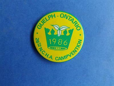Boy Scouts Canada Guelph Ont 1986 Campvention  26 Ncha Button Collector Patch