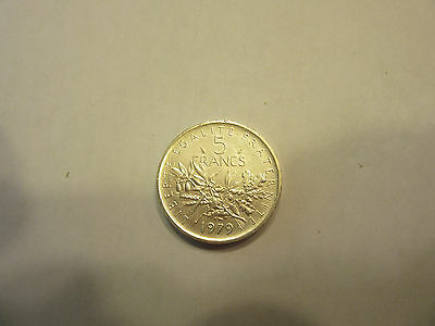 France 5 Francs Piedfort 1979 Silver Rare only 600 Minted