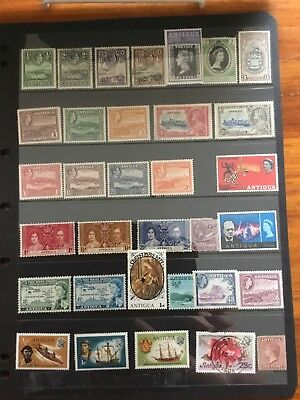 33 Stamps From ANTIGUA