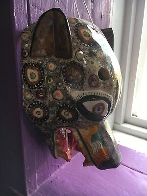 Guatemala Wolf Mask Handcrafted Wow