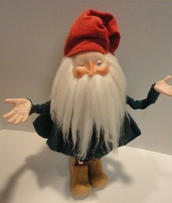 "Vintage Dept. 56 ~ Mistleberry ~ the Winking Elf ~ 14"" figurine doll"