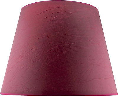 Burgundy Fabric Tapered Shade Large (Width 48cm x Height 36cm)