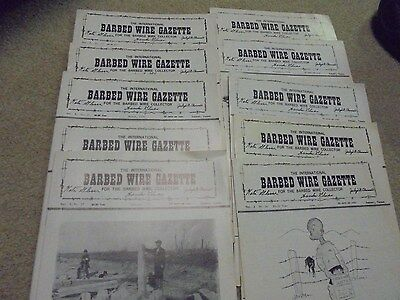 Vintage 1974 Ten Issues of The International Barbed Wire Gazette