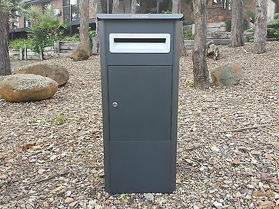 Parcel Letterbox Mail Drop Box Mailbox Post Monument Grey Parcelbox Pier