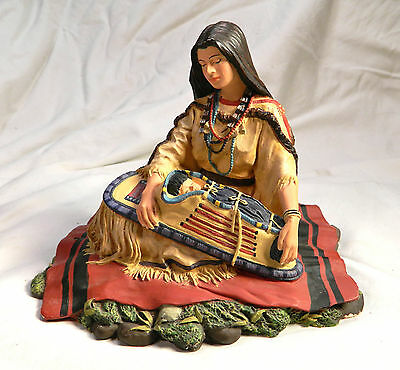 "Noble American Indian Woman,""Sacajawea"" Figurine #1553A-1993 Hamilton Collection"