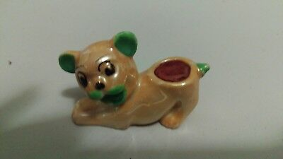 Antique Lustreware Pin Cushion Dog Made in Japan 1920's