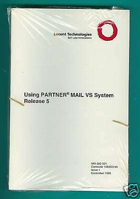 Lucent Partner Mail System Release 5 User Guides 10 Pack NIP
