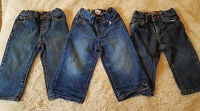 Lot Of 3 Baby Boys 12-18 Months Jeans The Children's Place Old Navy
