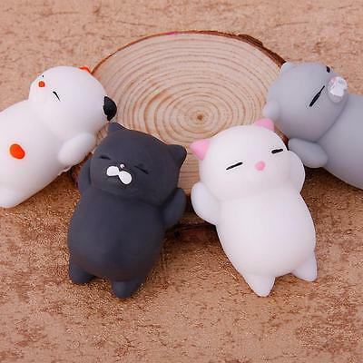 4pcs Lovely Cat Squishy Healing Squeeze Fun Kid Toy Gift Stress Reliever US Sell