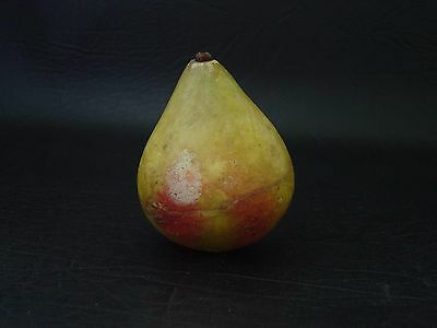 Vintage Early Carved Stone Pear Alabaster Marble Fruit