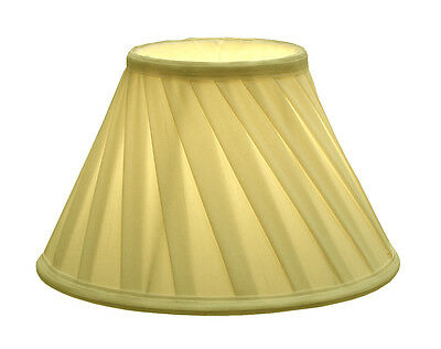 DAFFODIL - Yellow Folded Fabric Tapered lamp shade, Small 28cm x 19cm