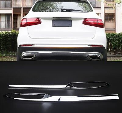 2X Chrome Rear Fog Light Bumper molding Trim For Mercedes-Benz GLC 300 2015-2016