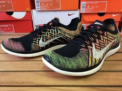 New Men s Nike Free 40 Flyknit Multi color Running Shoes 717075 011 Size 10