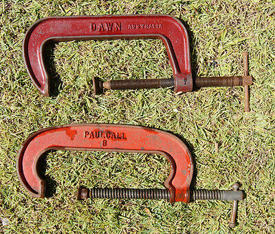 """2 C clamps 8"""" tools"""