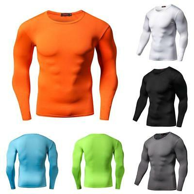 Quick Dry Men's Compression Long Sleeves T-Shirt Fintness Sports Gym Tops Tee